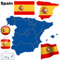 Spain  set. Stock Images