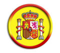 Spain shield for olympics Stock Image
