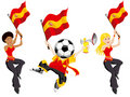 Spain Soccer Supporters. Royalty Free Stock Image