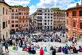 Spain square Piazza di Spagna in Rome, Italy Royalty Free Stock Photo