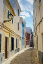 Spainish town houses traditional villas and in spain Stock Image