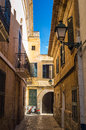 Spainish town houses traditional villas and in spain Royalty Free Stock Images