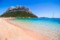 Spalmatore beach in Tavolara Island, Sardinia, Italy Royalty Free Stock Photo