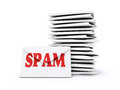Spam envelop on a white background Royalty Free Stock Images