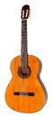 Spanish acoustic guitar isolated on white Royalty Free Stock Photo
