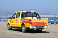Spanish beach patrol vehicle. Royalty Free Stock Photo