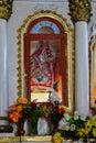 Inside of the Spanish Catholic Church in Raqchi- Peru 191 Royalty Free Stock Photo