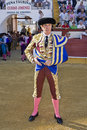 The spanish bullfighter jose luis moreno at the paseillo or initial parade cabra cordoba province spain september Royalty Free Stock Photo