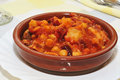 Spanish callos, a stew with beef tripe typical of Spain Royalty Free Stock Photo