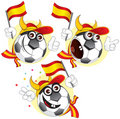 Spanish cartoon ball Royalty Free Stock Images