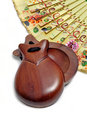 Spanish castanets and hand fan Royalty Free Stock Image
