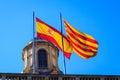 Spanish and Catalan flag Royalty Free Stock Photo