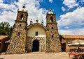 Spanish Catholic Church at Raqchi- Peru 143 Royalty Free Stock Photo