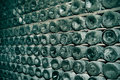 Spanish cava bottles in a wine cellar Royalty Free Stock Photography