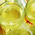 Spanish cava and the twelve grapes of luck Royalty Free Stock Photo