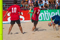 Spanish Championship of Beach Soccer , 2005 Royalty Free Stock Photo
