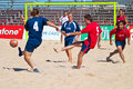 Spanish Championship of Beach Soccer , 2005 Stock Images