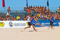 Spanish Championship of Beach Soccer , 2006 Stock Photos