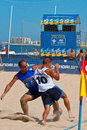 Spanish championship of beach soccer cadiz spain jul unknown players unknown team playing the on jul on the la Stock Image