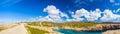 Spanish coast coastline in menorca spain Royalty Free Stock Image