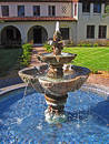 Spanish Courtyard Fountain Royalty Free Stock Image