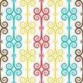 Spanish curl ornamental ceramic tile