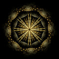 Spanish Damascene starburst Stock Photography