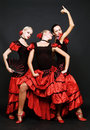 Spanish dancers Stock Image