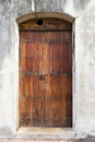 Spanish door charming old with a knocker in san juan puerto rico Royalty Free Stock Image