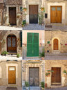 Spanish door the house doors collection from spain Royalty Free Stock Images