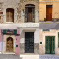 Spanish door the house doors collection from spain Royalty Free Stock Photos