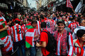 Spanish fans - Europa League 2012 Final(2) Royalty Free Stock Photo