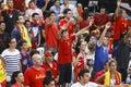 Spanish fans Royalty Free Stock Photo