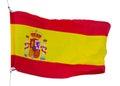 Spanish flag isolated Royalty Free Stock Photo