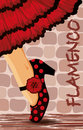 Spanish flamenco dance card vector illustration Royalty Free Stock Image