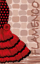 Spanish flamenco holiday card vector illustration Stock Images