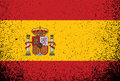 Spanish grunge ink flag illustration design over white Royalty Free Stock Photo