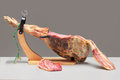 Spanish ham. Jamon Serrano Royalty Free Stock Photos