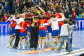 Spanish handball players Royalty Free Stock Image