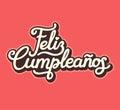 Spanish Happy Birthday lettering design