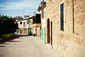 Spanish houses residential street in a quiet village Royalty Free Stock Photos