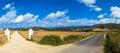 Spanish landscape rural menorca spain Stock Image