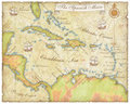 Spanish Main Map Royalty Free Stock Images