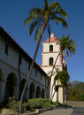 Spanish Mission in Santa Barbara Royalty Free Stock Photos