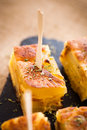 Spanish omelet tapas typical pub food Royalty Free Stock Images