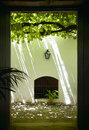 Spanish patio with grapes in andalucia. Cadiz. Spain Royalty Free Stock Photo