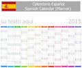 Spanish planner calendar with vertical months on white background Royalty Free Stock Photos