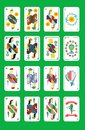 The spanish playing cards Royalty Free Stock Photo