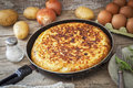 Spanish potato omelet Royalty Free Stock Photo