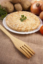 Spanish potato omelette Royalty Free Stock Images